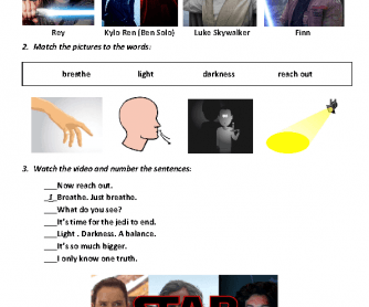 Movie Worksheet - Star Wars - The Last Jedi