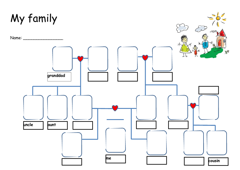 Family Tree – Family Tree Worksheet
