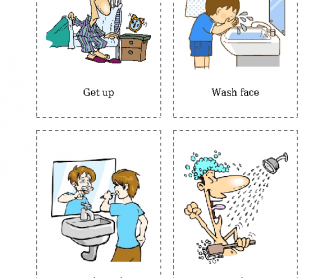 Flashcards of Daily Activities