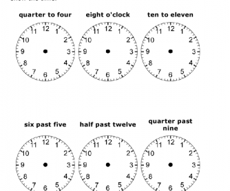 Drawing Clock Hands - Time in Words