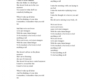 Music Worksheet: Strangers by Halsey