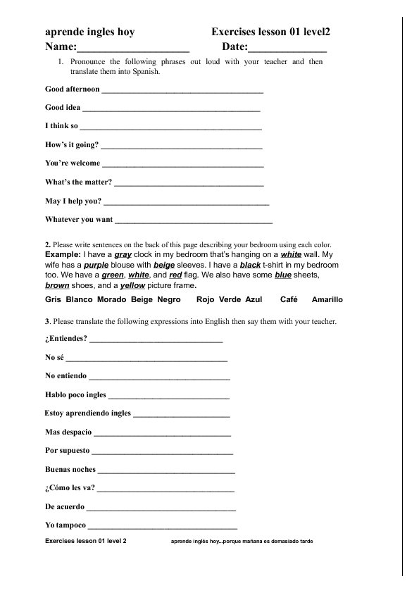314 free everyday social english worksheets for Translate fish to spanish