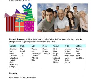 Adjective Order - Practice 2