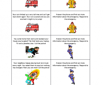Emergency Services Role Play Cards