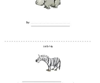 African Animals Mini Book