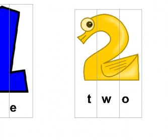 Spelling Numbers 1-10