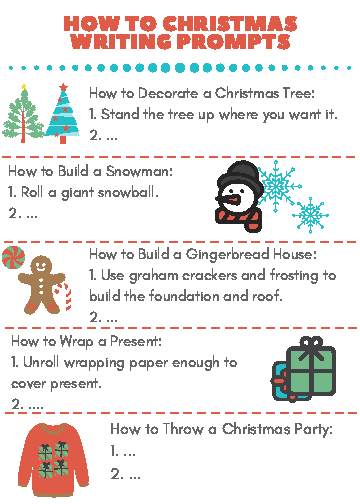 christmas how to writing prompts