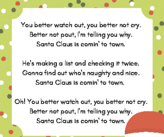 Christmas Reading: Santa Claus is Coming to Town