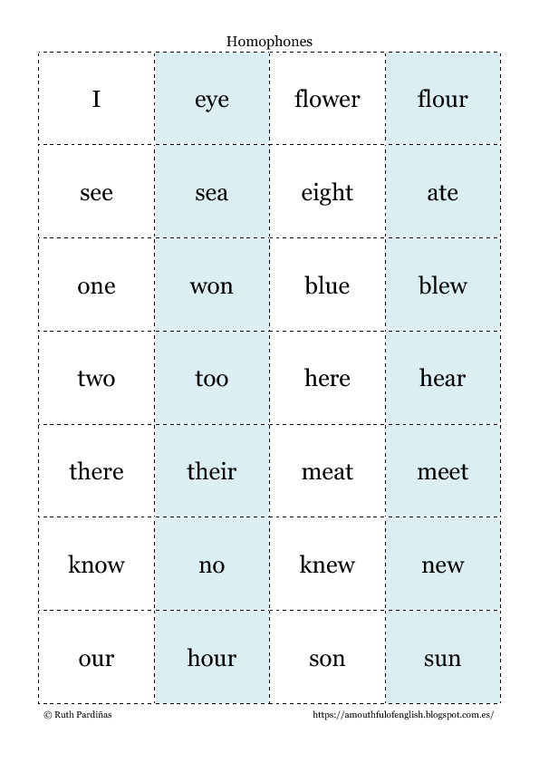 77 Free Homophones Worksheets
