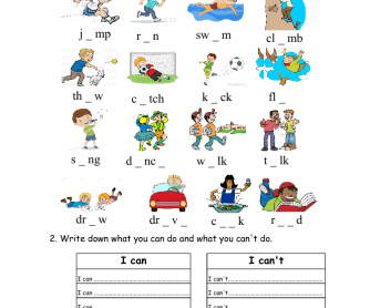 Action Verbs Fill in the Blank for Kids
