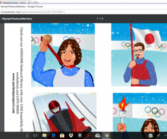 2018 Winter Olympics Flashcards