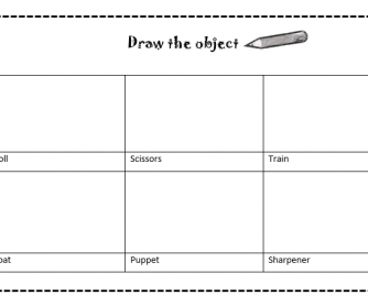 Draw The School Object (Drawing Activity and Word Search)