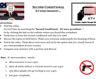 Second Conditional - If I were President