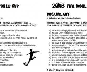 World Cup 2018 Vocabulary