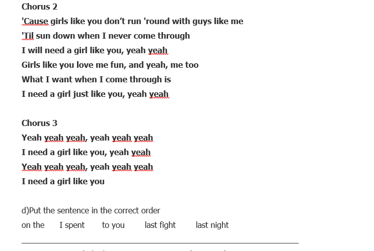 Never met a girl like you lyrics