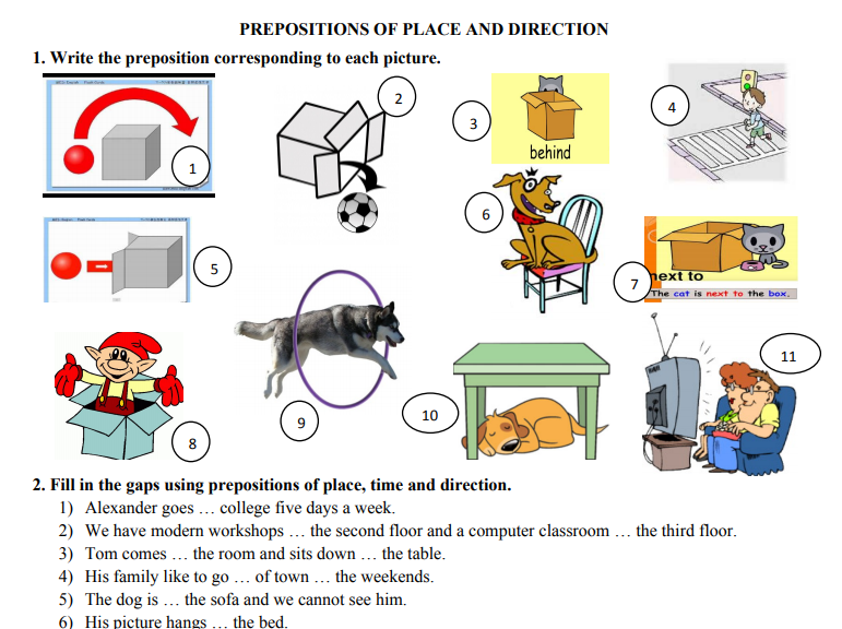 443 free preposition worksheets teach prepositions with style