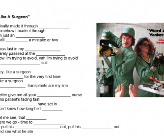 Weird Al Yankovic - Like a Surgeon Song Worksheet