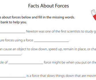Cloze Activity - Facts About Forces