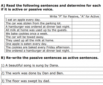Passive Voice in Stages