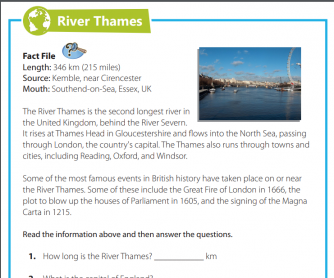 Reading Comprehension - River Thames