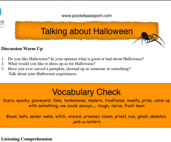 Halloween Planning Lesson with Activities