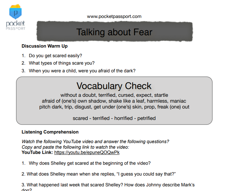 2950 free listening worksheets scary halloween lesson ibookread Read Online