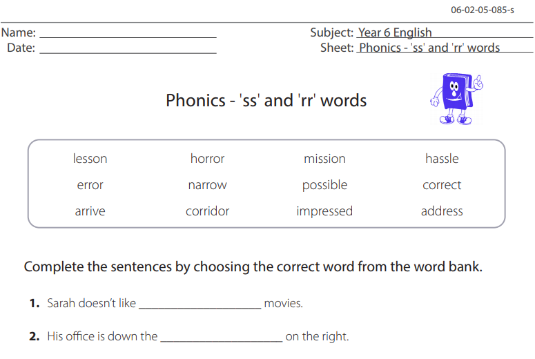 spelling test generator circle the correct word