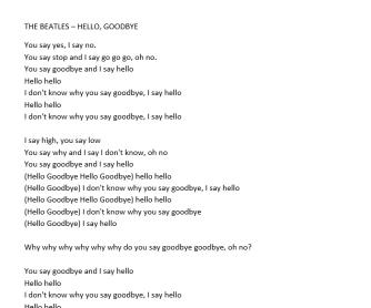 Hello Goodbye - The Beatles