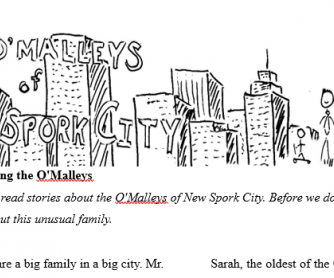 Introducing the O'Malley Family Reading Worksheet