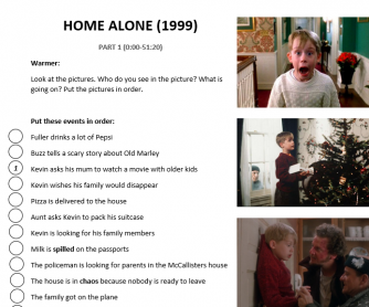 Home Alone (1999) Movie Handout B1 Level