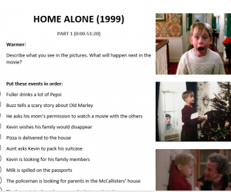 Home Alone (1999) Movie Worksheet for B2+ Levels