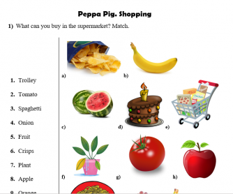 Peppa Pig. Shopping