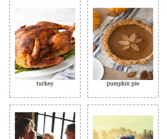 20 Thanksgiving Flashcards