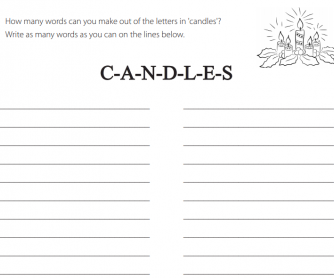 Candles - How Many Words?