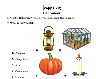 Peppa Pig Halloween. Pumpkin Competition