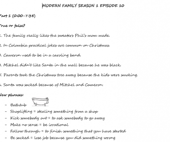 Christmas Episode of Modern Family (Season 1 Episode 10)