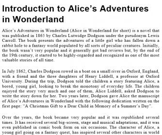 Introduction to Alice's Adventures in Wonderland