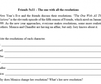 Friends worksheet 05x11