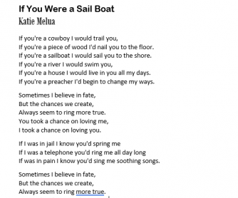 If You Were a Sailboat