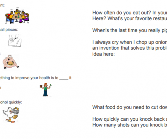 Food Phrasal Verbs and Discussion Questions