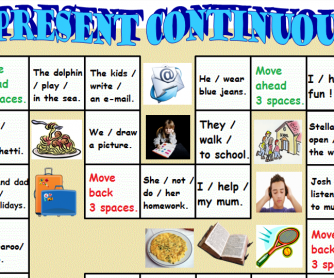 Present Continuous Board Game