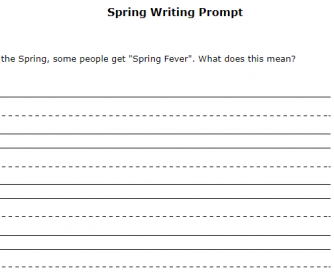 Spring Idiom Writing Prompt