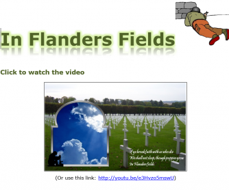In Flanders Fields Video and Worksheet