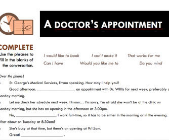 Booking Appointments Worksheet