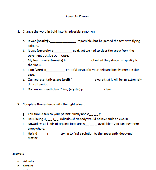 151 FREE Clauses Worksheets