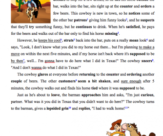 What I did in Texas! Worksheet