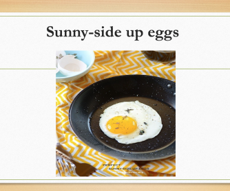 Types of Cooked Eggs PowerPoint