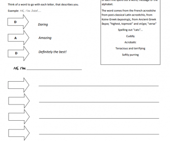 photo relating to All About My Teacher Free Printable identified as BusyTeacher: Cost-free Printable Worksheets For Chaotic English Academics