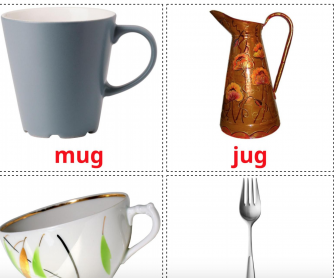 29 Realistic Crockery and Cutlery Flashcards