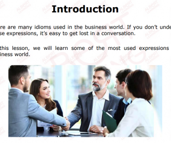 Useful Expressions For Business English